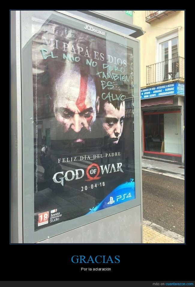 calvo,día del padre,god of war,padre