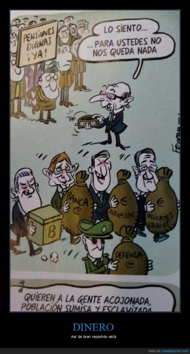 corrupcción,dinero,pensiones,políticos,rescate bancario
