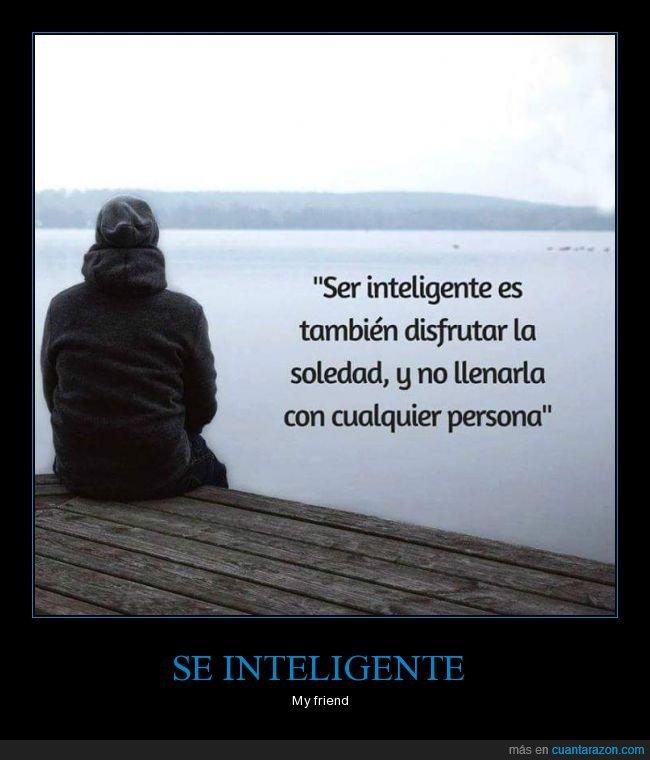 disfrutar,inteligente,soledad