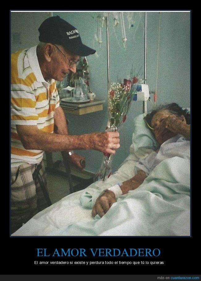abuelos,amor,hospital,ramo,verdadero