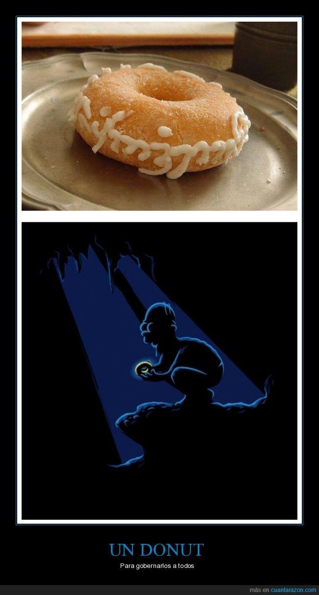 anillo,donut,el señor de los anillos