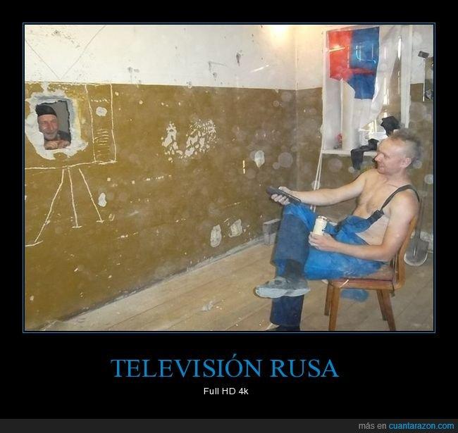 agujero,rusos,televisión