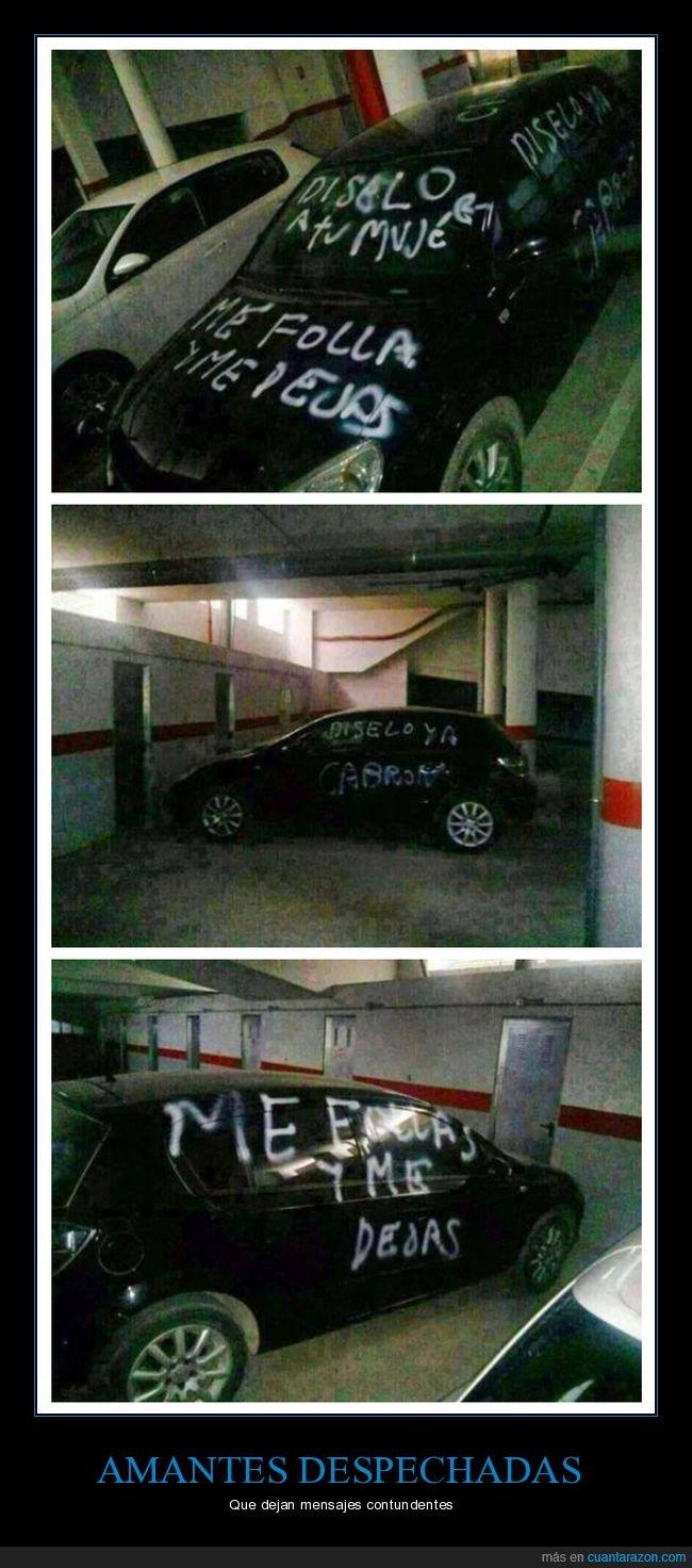 amante,coche,pintada
