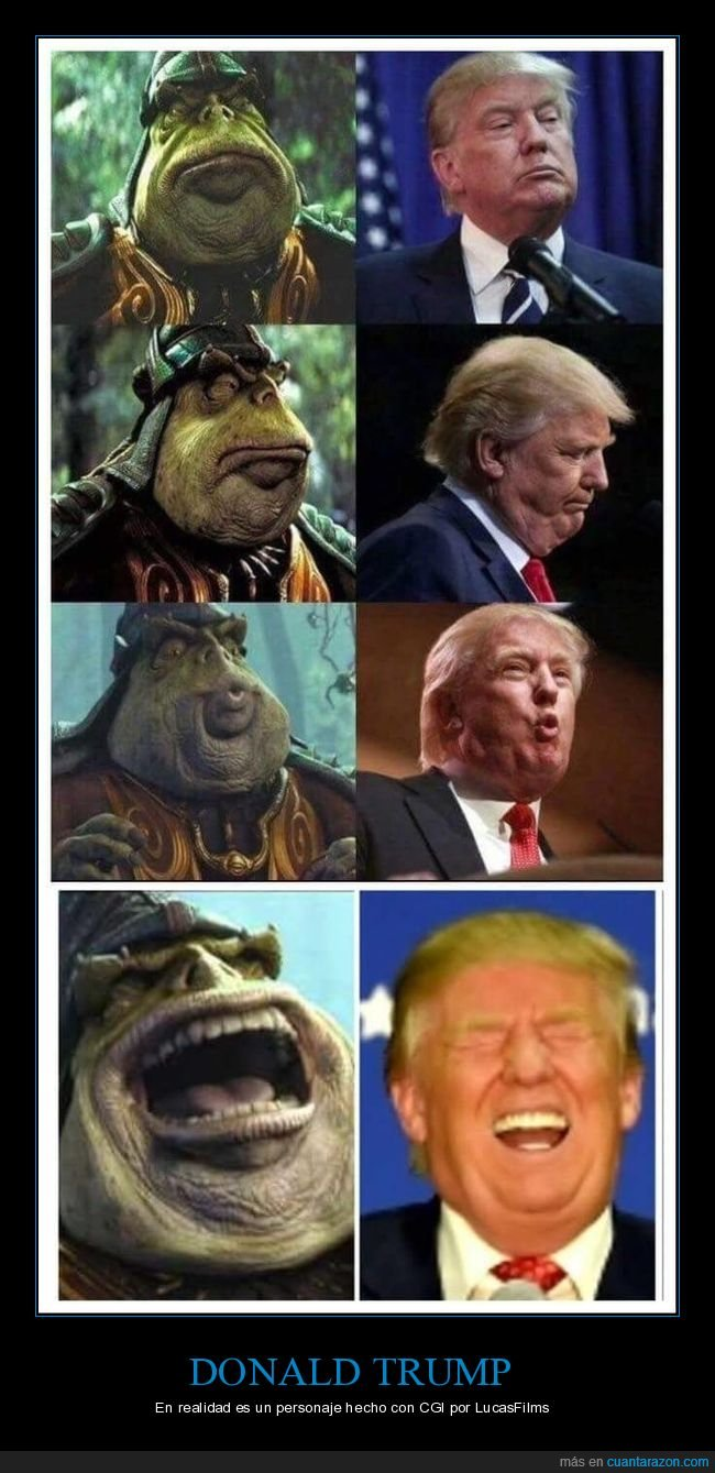 donald trump,parecidos,políticos,star wars