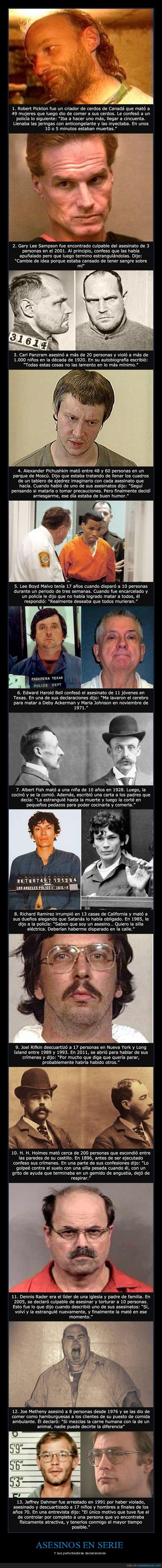 asesinos,declaraciones,locos