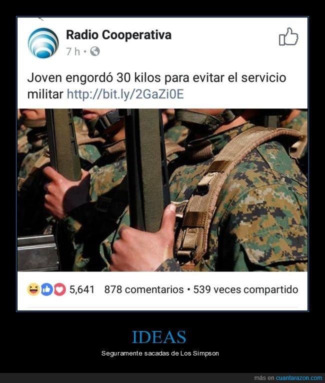 engordar,servicio militar
