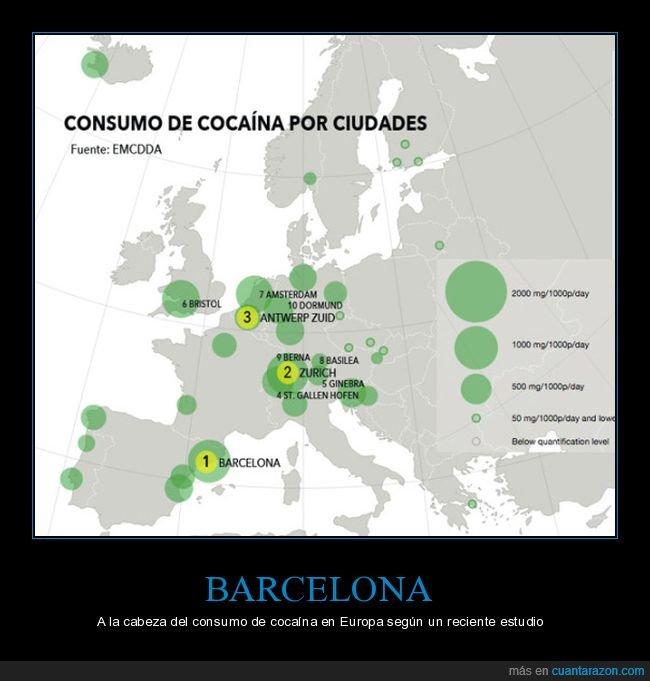 barcelona,consumo,droga,europa