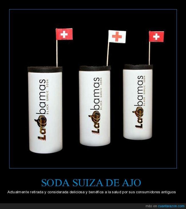 ajo,refresco,retirado,soda,suiza