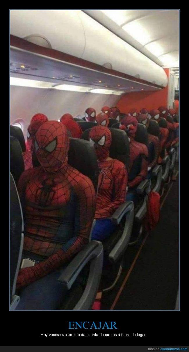 avión,disfraces,spiderman