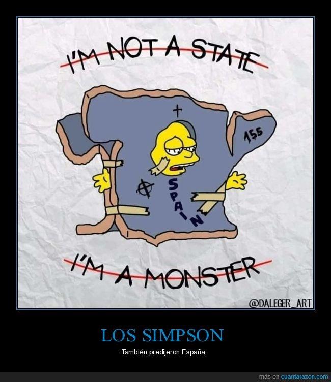 españa,estado,lisa,monstruo,simpsons