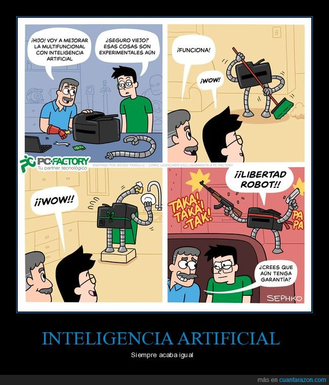 impresora,inteligencia artificial,libertad,robot