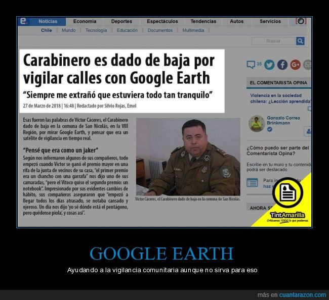 calle,carabinero,google earth,policía,vigilar
