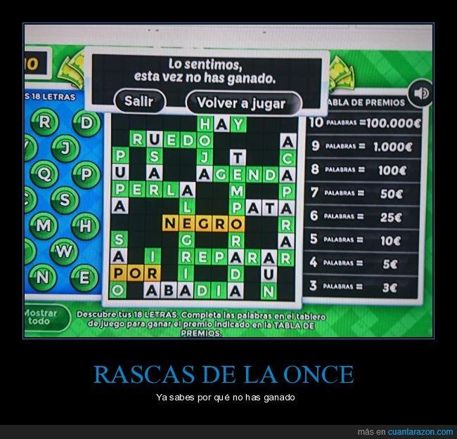 lotería,negro,once,rasca
