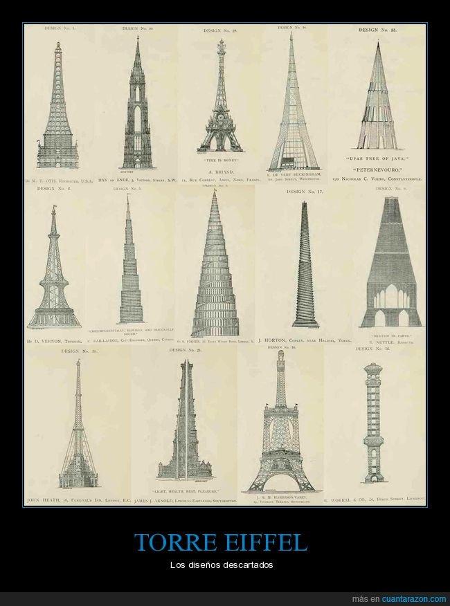 curiosidades,descartados,diseños,torre eiffel