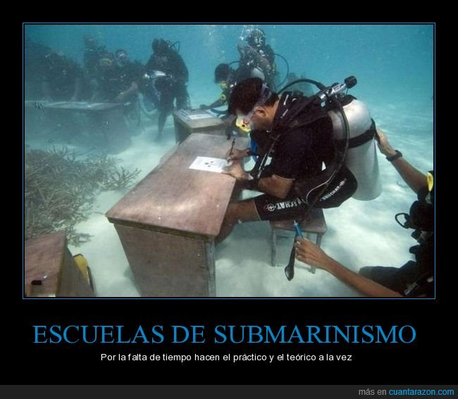 bajo el agua,examen,submarinistas