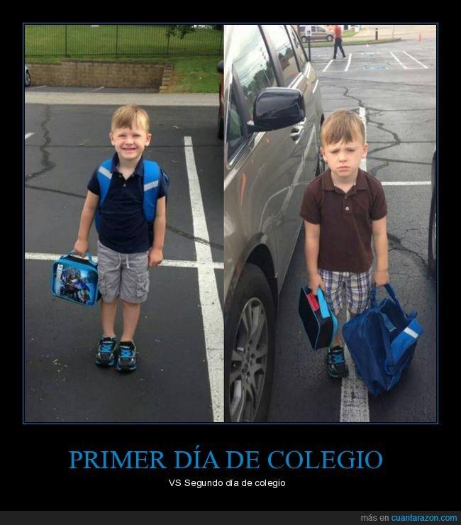 colegio,primer día,segundo día