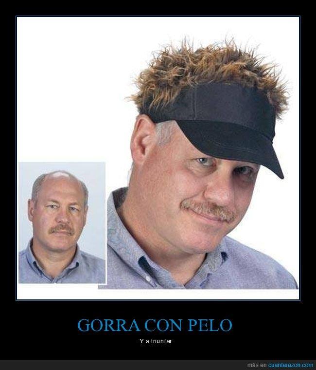 calvo,gorra,pelo