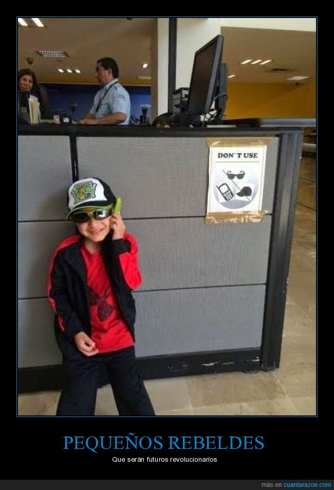 cartel,gafas,gorra,móvil,prohibición