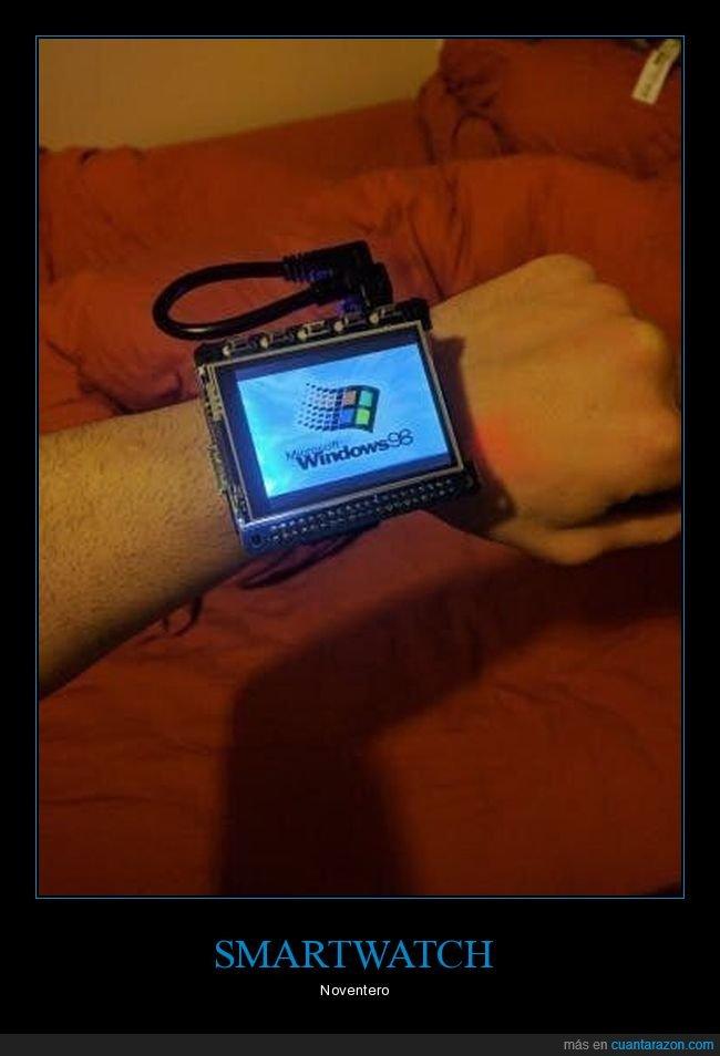 años 90,smartwatch,windows 98