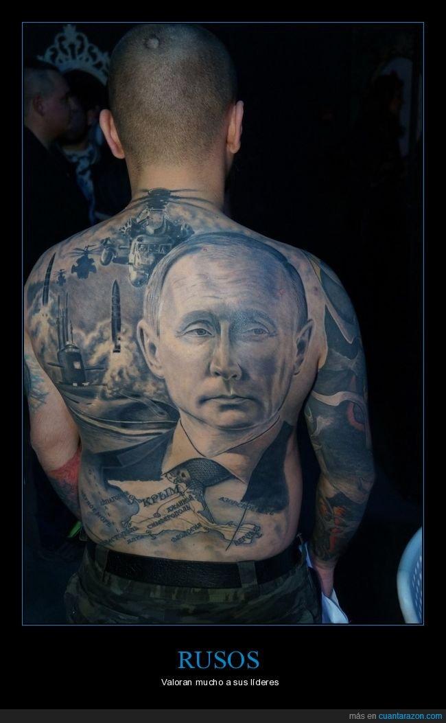 putin,rusos,tatuaje