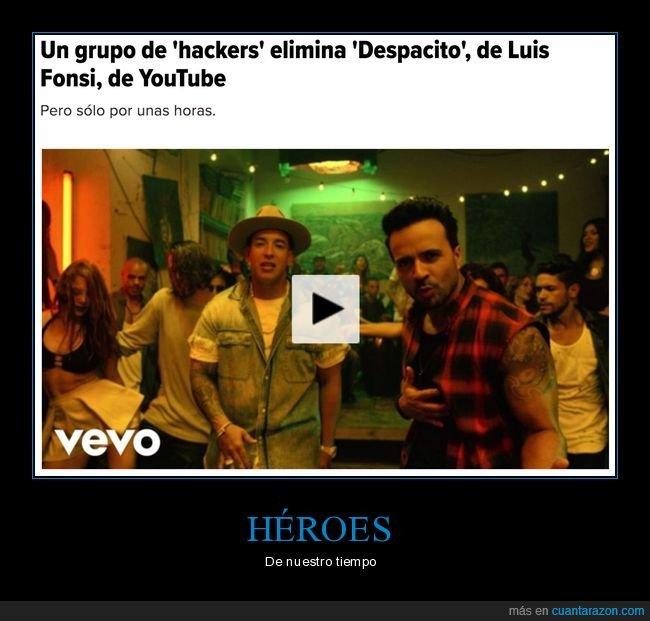 despacito,hackers,youtube
