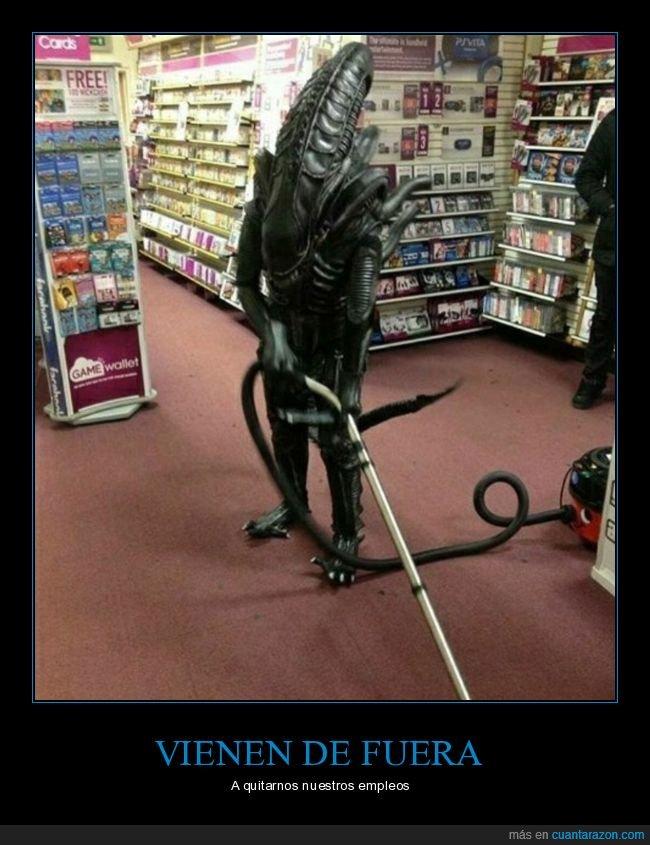 alien,aspiradora,disfraz