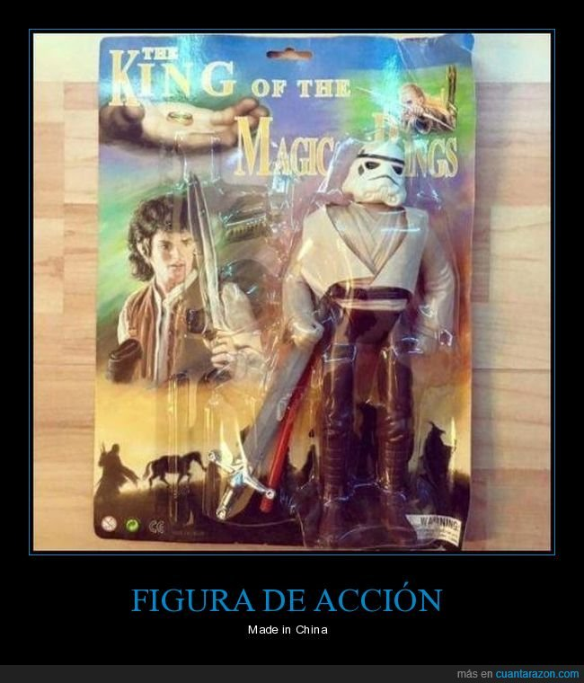 el señor de los anillos,fails,muñeco,star wars