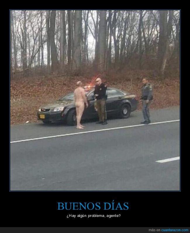 desnudo,policía,wtf