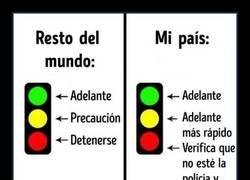 Enlace a Bueno, en mi país ese semáforo estaría al revés...