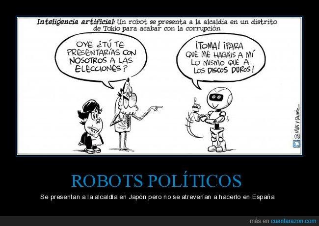alcaldía,discos duros,políticos,rajoy,robot,tokio
