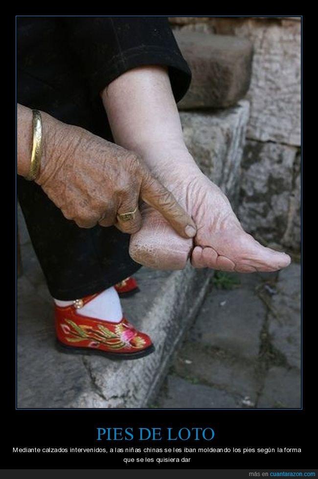 china,curiosidades,pies,pies de loto