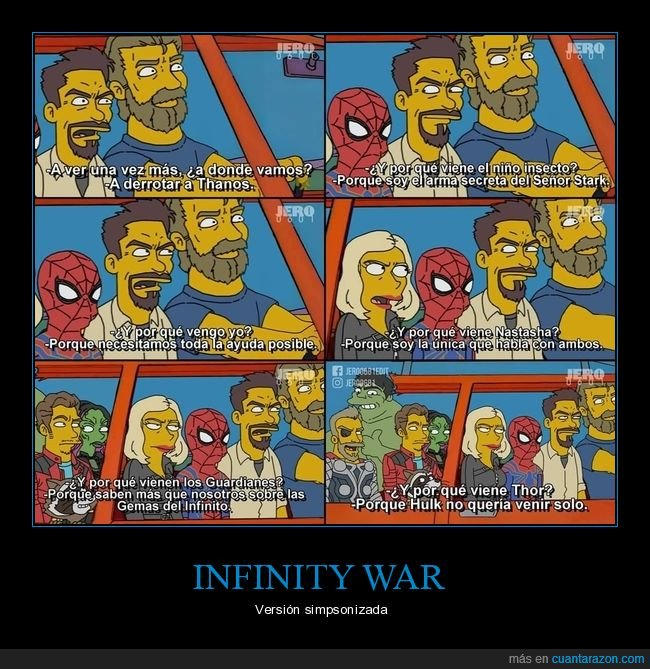 infinity wars,los vengadores,simpsons