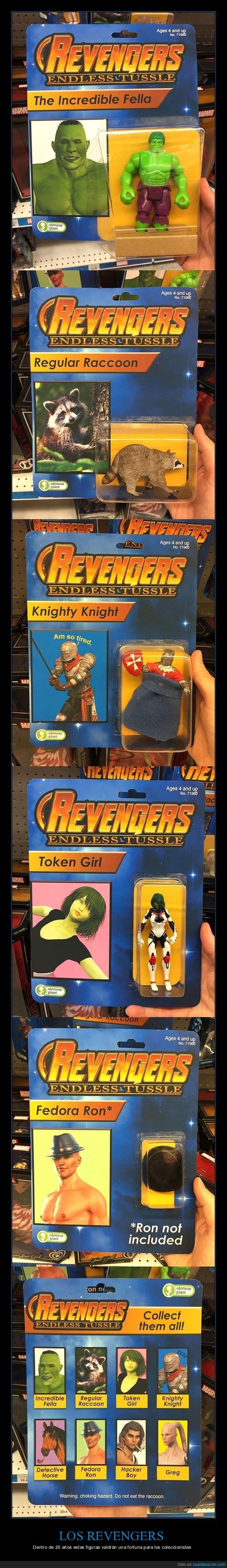 cutres,los vengadores,muñecos,revengers