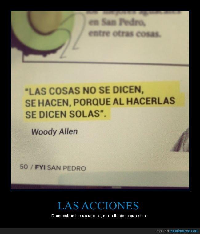 decir,hacer,woody allen