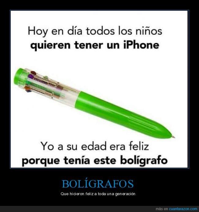 bolígrafo,colores,felices,iphone,niños
