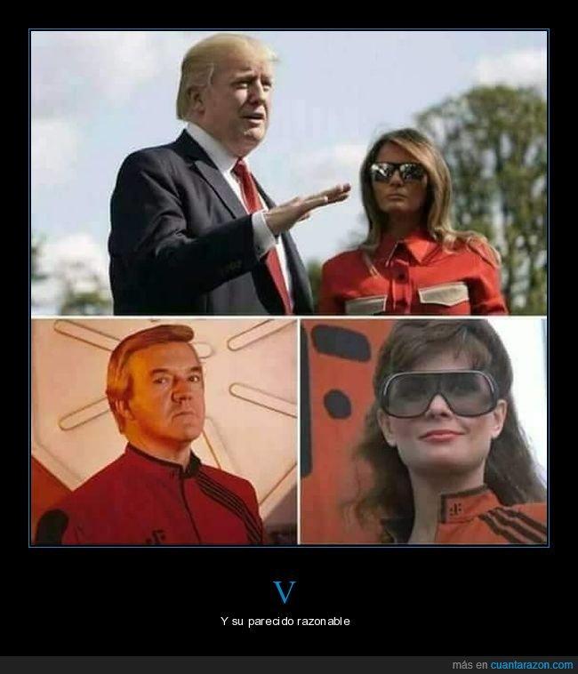donald trump,melania trump,parecidos,políticos,v
