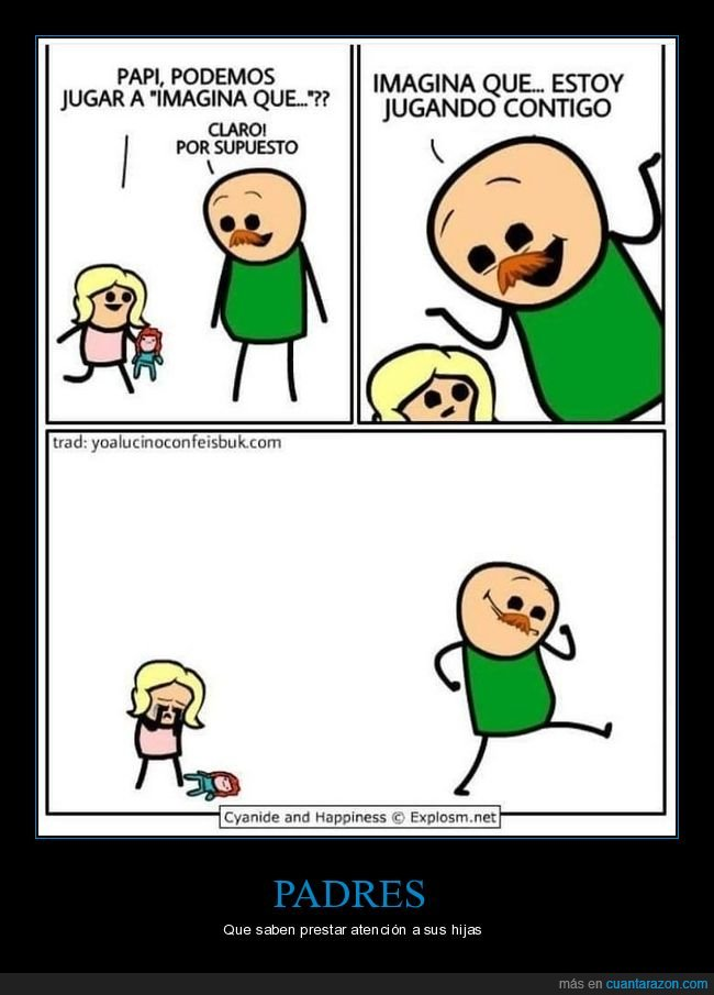 hija,imaginar,jugar,padre