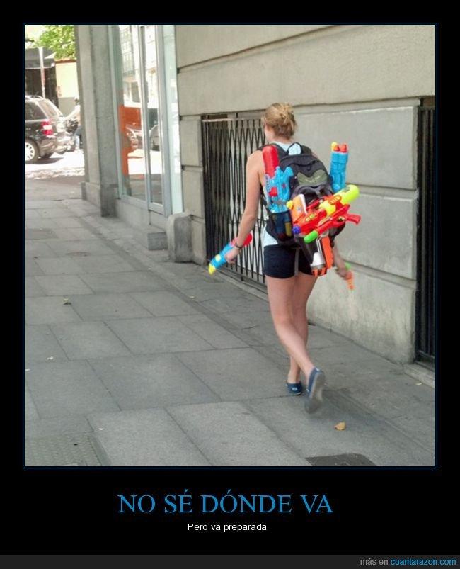 pistolas de agua,preparada,wtf