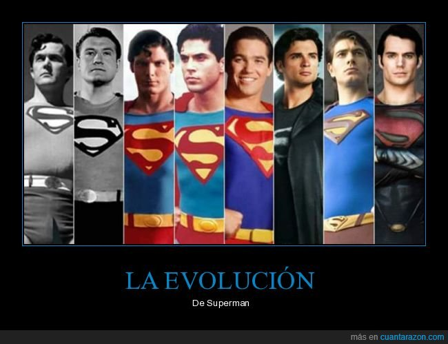 actores,evolución,superman