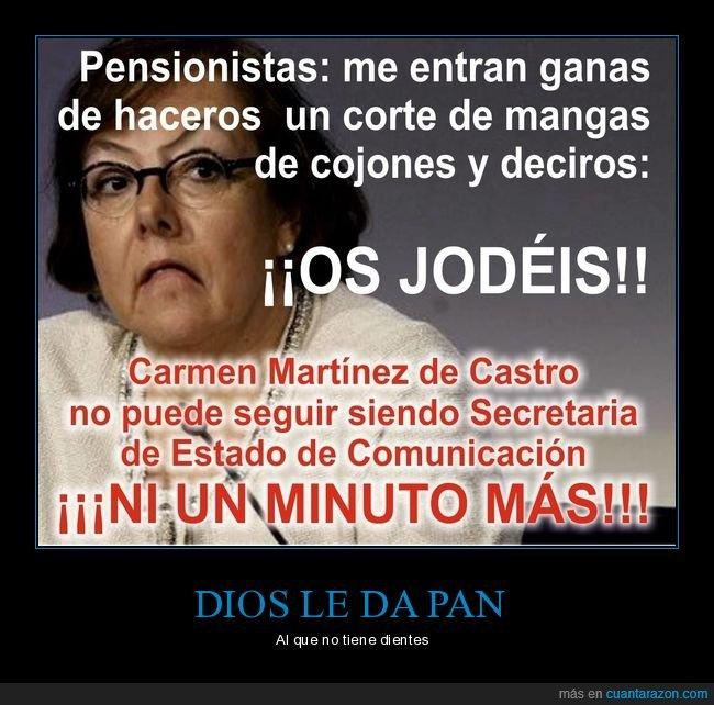 carmen martínez de castro,pensionistas,políticos,pp