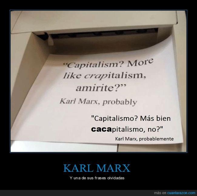 caca,capitalismo,comunismo,Marx