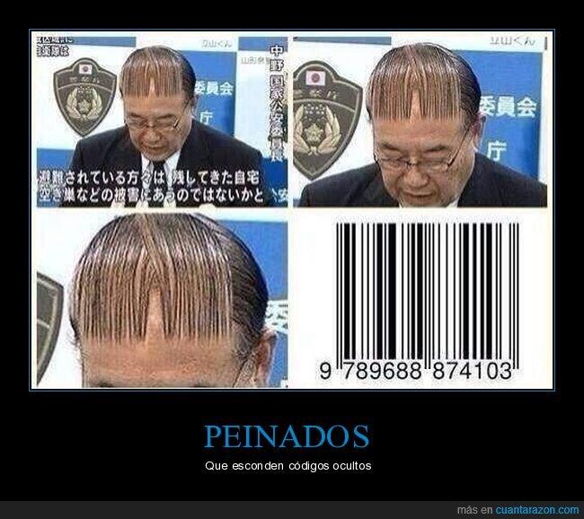 código de barras,peinado,wtf