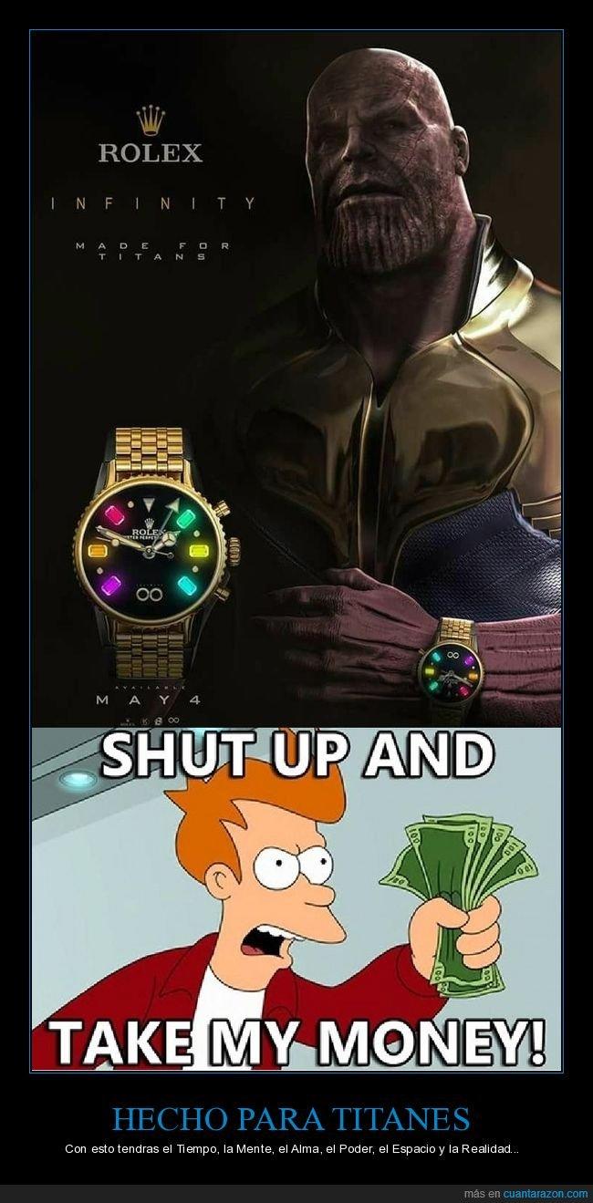 infinity war,los vengadores,reloj,thanos