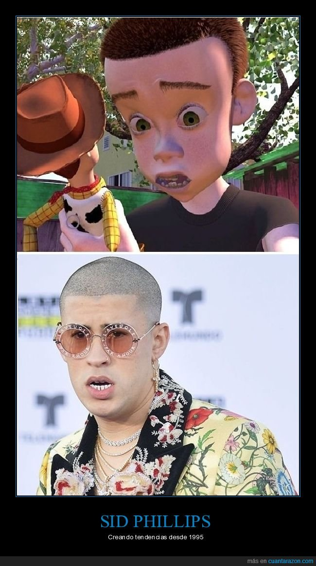 bad bunny,parecidos,sid phillips,toy story