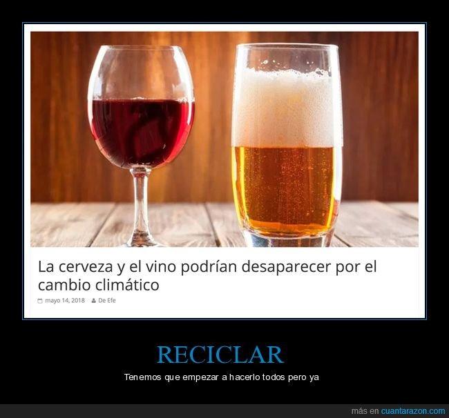 cambio climático,cerveza,desaparecer,vino