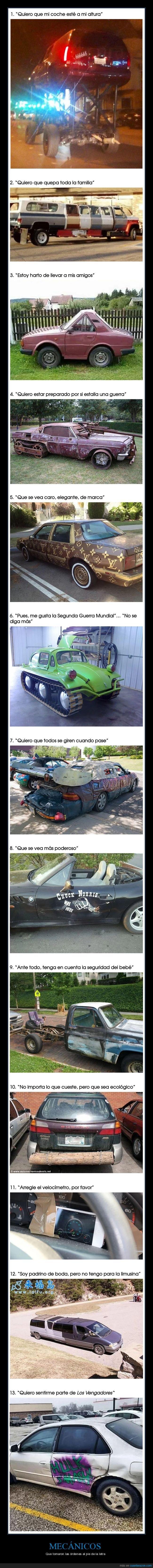 coches,fails,mecánicos,pie de la letra