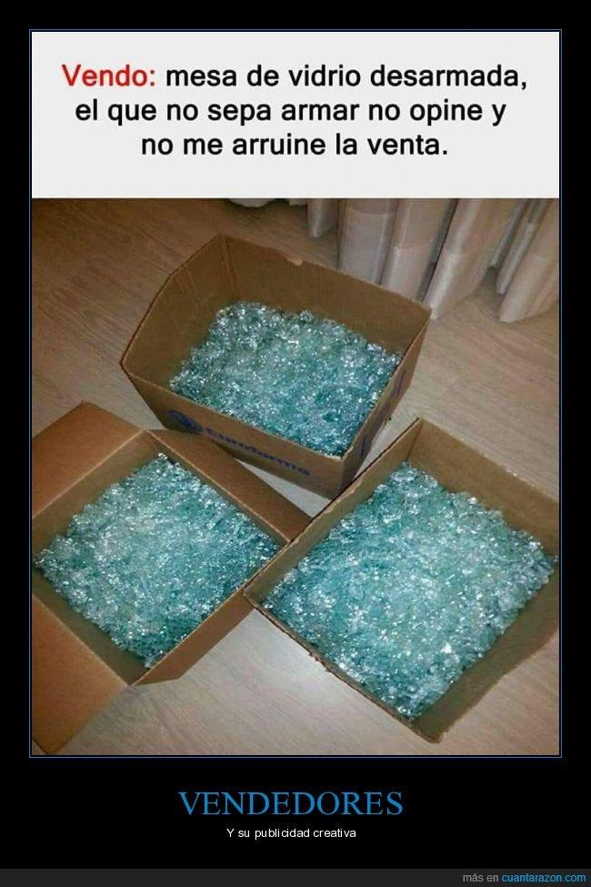 cristal,desmontada,mesa,vender