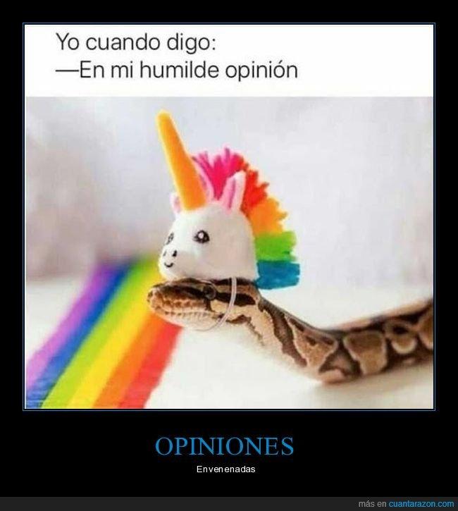 humilde,opinión,serpiente,unicornio