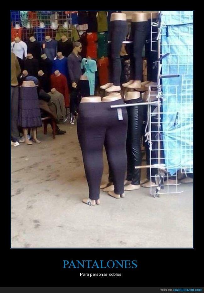 doble,maniquíes,pantalones