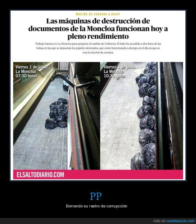 destrucción,documentos,políticos,pp